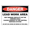Zing 2658 Danger Sign, 10x14 In, R and BK/WHT, ENG