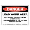 Zing 2658S Danger Sign, 10x14 In, R and BK/WHT, ENG