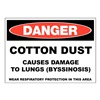 Zing 2663 Danger Sign, 10x14 In, R and BK/WHT, ENG