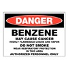 Zing 2661 Danger Sign, 10x14 In, R and BK/WHT, ENG