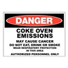 Zing 2662 Danger Sign, 10x14 In, R and BK/WHT, ENG