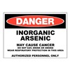 Zing 2665 Danger Sign, 10x14 In, R and BK/WHT, ENG