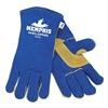 Memphis Glove 4500XXL Glove, Welder, Cowhide, Blue, 2XL, PR