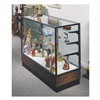 Waddell Display 2010-6-BZ-WV Display Case, 40x72x20, Walnut