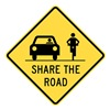Lyle T1-1030-HI_24x24 Sign, Share The Road, 24 x24 In