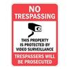 Lyle T1-1073-HI_18x24 Property Sign, No Trespass, 24 x 18 In