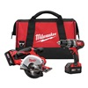 Milwaukee 2698-22 Cordless Combination Kit, 18.0V, 3.0A/hr.