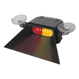 Code 3 Sngl Hd Dash/Dk Light, LED, Rd/Ambr, 3-3/4W at Sears.com