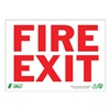 Zing 1079A Fire Exit Sign, 7 x 10In, R/WHT, Fire Exit
