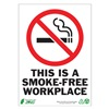 Zing 1087A No Smoking Sign, 7 x 10In, R and BK/WHT