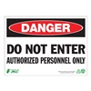 Zing 1094A Danger Sign, 7 x 10In, R and BK/WHT, ENG