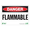 Zing 1098A Danger Sign, 7 x 10In, R and BK/WHT, FLMB