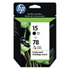Hewlett Packard HEWC8789FN140 Ink Cart, HP, Combo Pack, Black, Tricolor