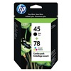 Hewlett Packard HEWC8788FN140 Ink Cart, HP, Combo Pack, Blk, Tricolor