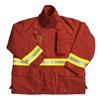 Fire-Dex FS1J05L1 Turnout Coat, Red, XL, Cotton