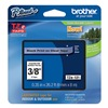 Brother TZe121 Label Tape, 26-1/5 ft. L, Black/Clear