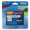 Brother TZe2312PK Label Tape, Black/White, 26-1/5 ft. L, PK 2