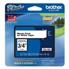 Brother TZe241 Label Tape, 26-1/5 ft. L, Black/White