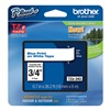 Brother TZe243 Label Tape, White/Blue, 26-1/5 ft. L