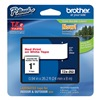 Brother TZe252 Label Tape, White/Red, 26-1/5 ft. L