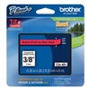 Brother TZe421 Label Tape, Black/Red, 26-1/5 ft. L