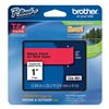 Brother TZe451 Label Tape, Black/Red, 26-1/5 ft. L