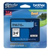 Brother TZe541 Label Tape, Black/Blue, 26-1/5 ft. L