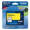 Brother TZe661 Label Tape, 26-1/5 ft. L, Black/Yellow