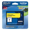 Brother TZe651 Label Tape, Black/Yellow, 26-1/5 ft. L