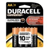 Duracell MN1500B8Z Battery, AA, Alkaline, PK 8