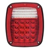 Optronics STL60RLBPG Stop/Tail/Turn Lamp, 15 Diode, LED, Red