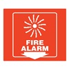 Zing 2553 Fire Alarm Sign, 7 x 7In, WHT/R, Fire ALM