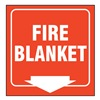 Zing 2554 Fire Blanket Sign, 7 x 12In, WHT/R, ENG