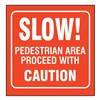 Zing 2561 Traffic Sign, 7 x 7In, WHT/R, Text
