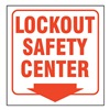 Zing 2570 Lockout Sign, 7 x 12In, R/WHT, ENG