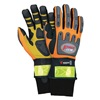 Mcr HV200XXXL Mechanics Gloves, Orange/Gray/Blk, 3XL, PR