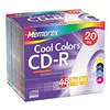 Memorex MEM04620 CD-R Disc, 700 MB, 80 min, 48x, PK 20