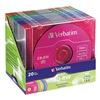 Verbatim VER94300 CD-RW Disc, 700 MB, 80 min, 4x, PK 20
