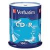 Verbatim VER94554 CD-R Disc, 700 MB, 80 min, 52x, PK 100