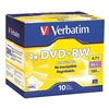 Verbatim VER94839 DVD+RW Disc, 4.70 GB, 120 min, 4x, PK 10