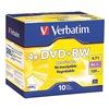 Verbatim VER94839 DVD+RW Disc, 4.70 GB, 120 min, 4x, PK 10