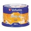 Verbatim VER95101 DVD-R Disc, 4.70 GB, 120 min, 16x, PK 50