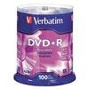 Verbatim VER95098 DVD+R Disc, 4.70 GB, 120 min, 16x, PK 100