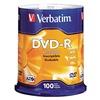 Verbatim VER95102 DVD-R Disc, 4.70 GB, 120 min, 16x, PK 100