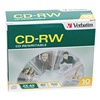 Verbatim VER95170 CD-RW Disc, 700 MB, 80 min, 4x, PK 10