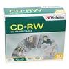 Verbatim VER95170 CD-RW Disc, 700 MB, 80 min, 4x, PK 10