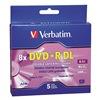 Verbatim VER95311 DVD+R Dual Disc, 8.50 GB, 240 min, 8x, PK 5