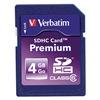 Verbatim VER96171 Premium SDHC Memory Card, 4 GB,