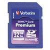 Verbatim VER96871 Premium SDHC Memory Card, 32 GB,
