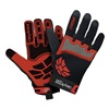 HexArmor 4022-7 Cut Resistant Gloves, Red/Black, S, PR